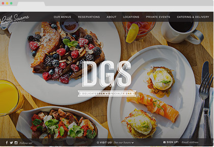 DGS Delicatessen Website