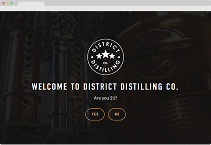 District Distilling Co. Website