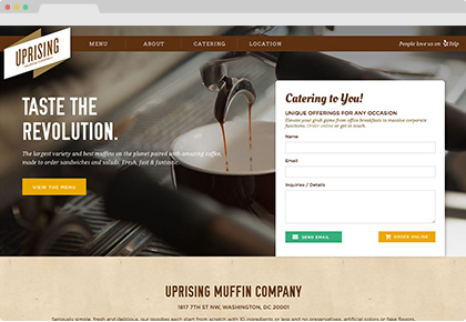Uprising Muffin Company Website